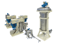 Continuous chocolate line with vertical ball mills