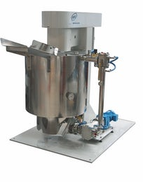 Mixer and refiner for chocolate compound
