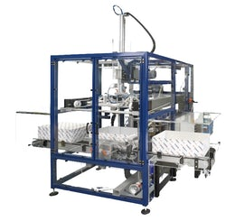 Lid applicator for corrugated cases