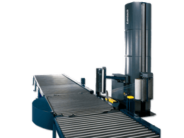 Automatic turn-table stretch wrapper