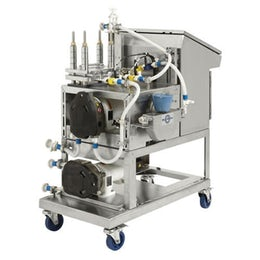 Semi-automated tangential flow filtration system
