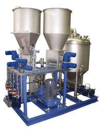 Dust-free continuous homogenizing system