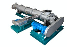 Continuous paddle dryer