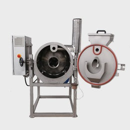 Compact cylindrical roaster for beans, nibs and nuts