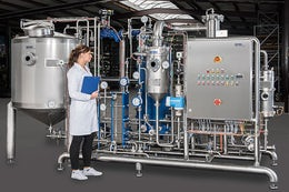 Pilot evaporation plant for the recovery of extracts
