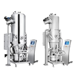 Fluid bed dryer for production scale