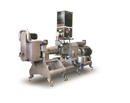 Extruder for large-scale production of breakfast cereals