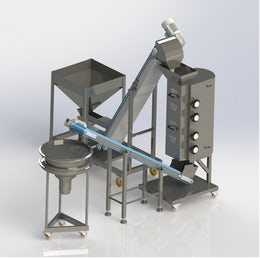Small scale linear sieve for nuts