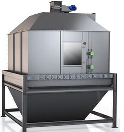 Gravity feed cooler