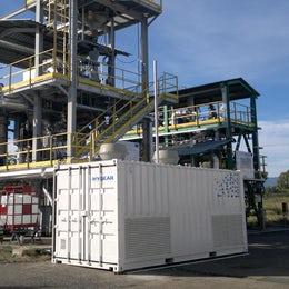 Containerized hydrogen upgrading system