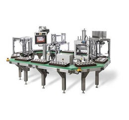 Automatic blister sealing machine for retail products