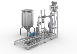 Continuous mixer for toothpaste production