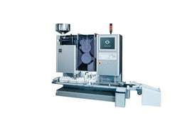 High speed bottle filler with inspection
