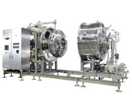 Evaporator for heat sensitive products