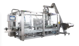 Bottle filling and capping monobloc