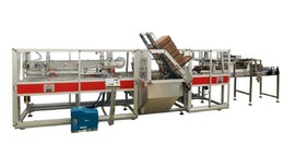 Wrap-around case packer for beer cans or bottles